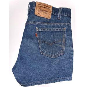 Vintage Levi's 517 Orange Tab Denim Shorts